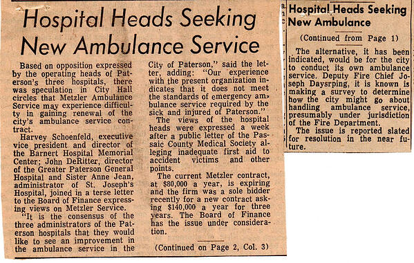 paterson ambulance history 1970 dayspring collection