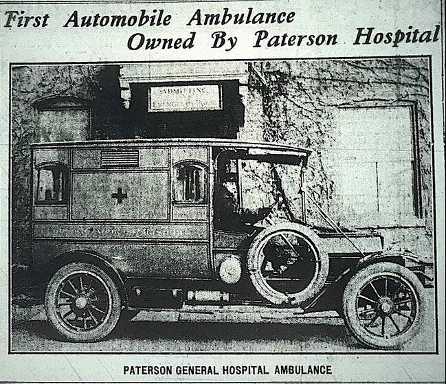 paterson first auto ambulance december 1915